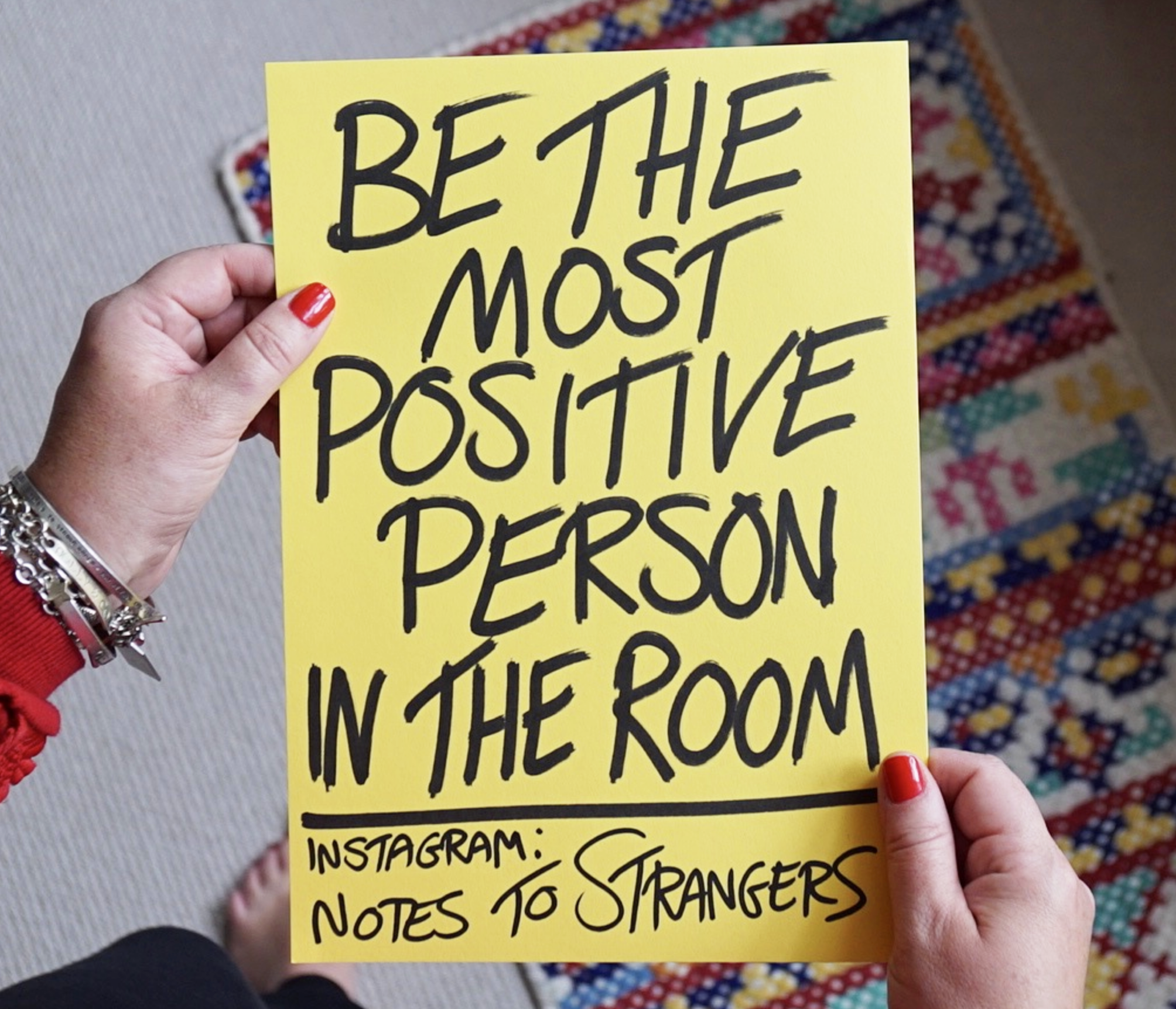 optimism be the most positive person in the room