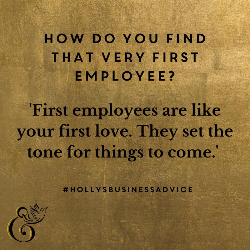 Hiring first employee