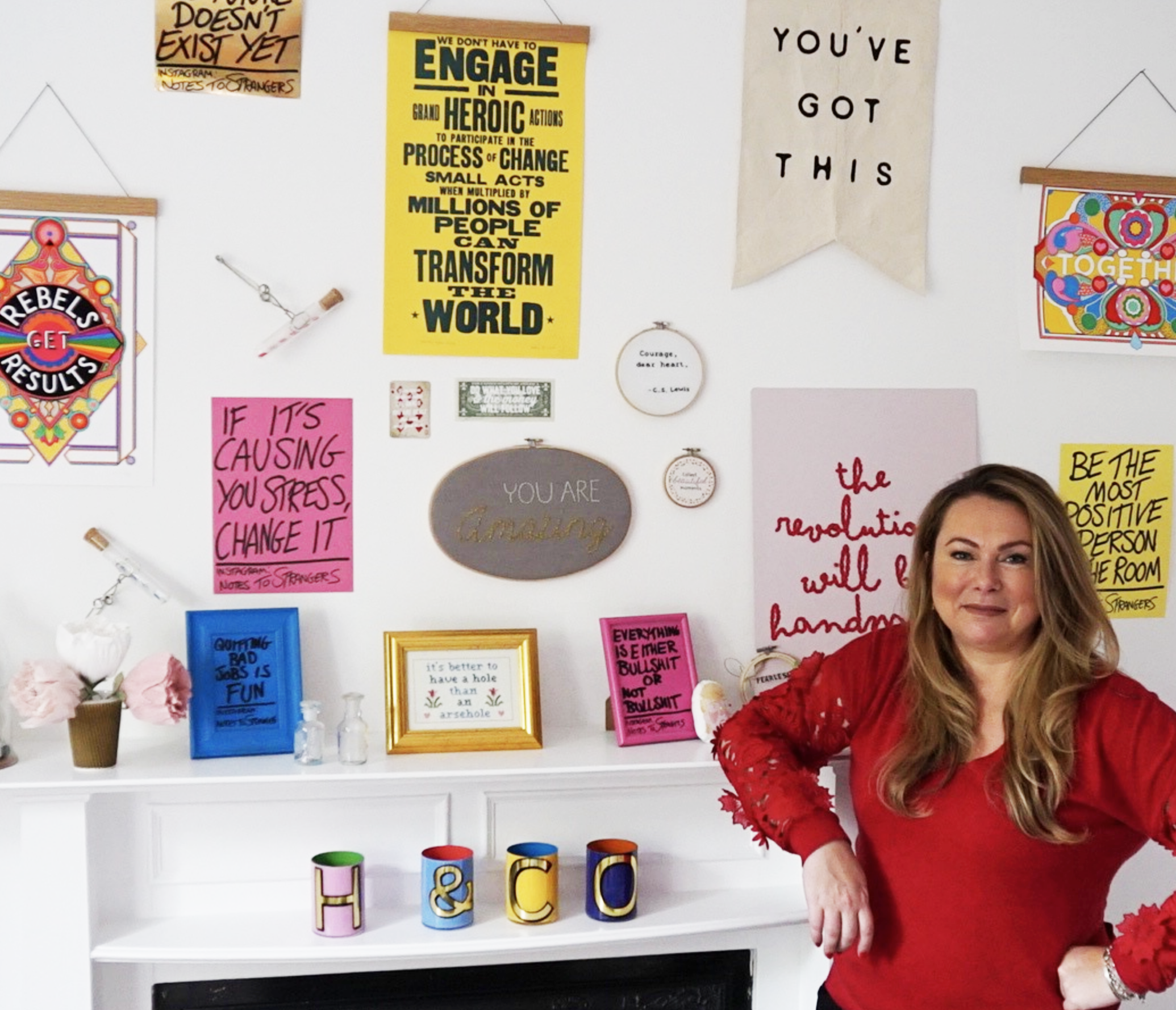Holly Tucker Creative workspace working from home