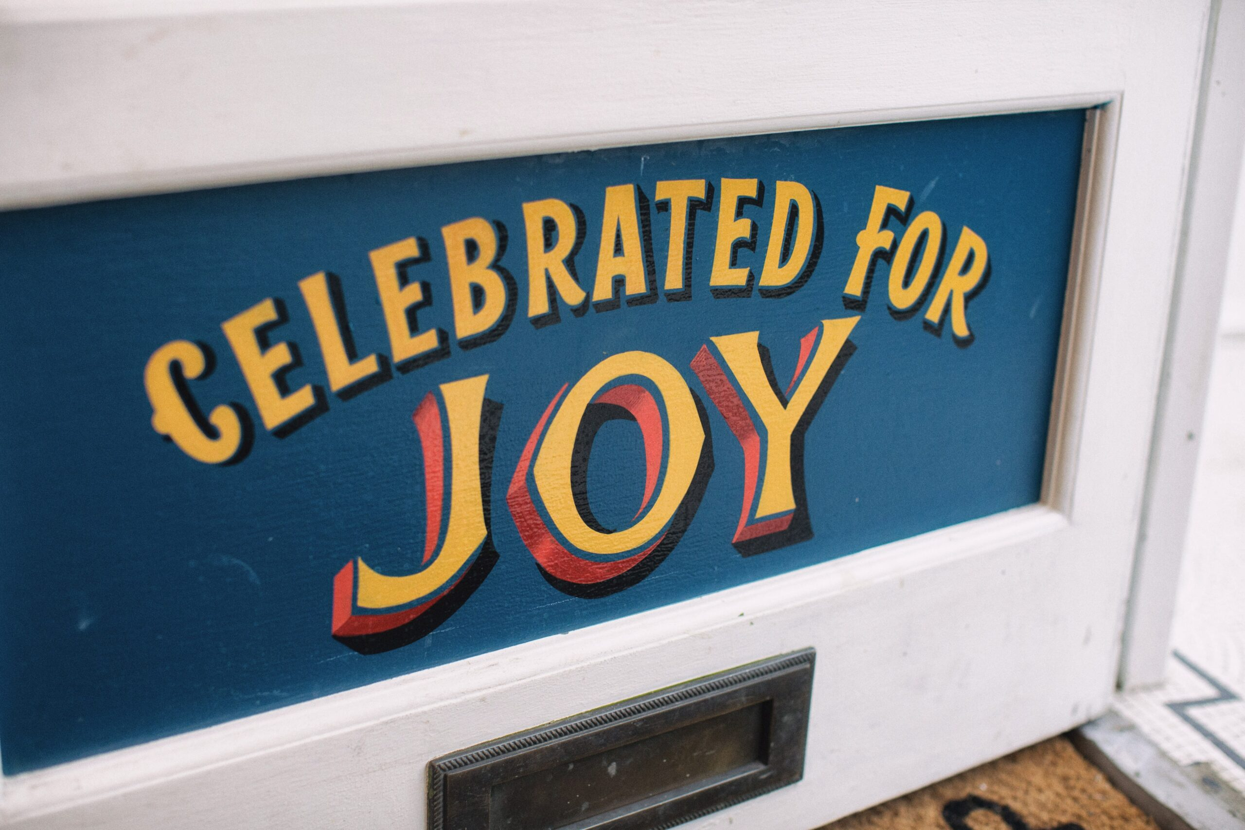 brilliant sign celebrated for joy