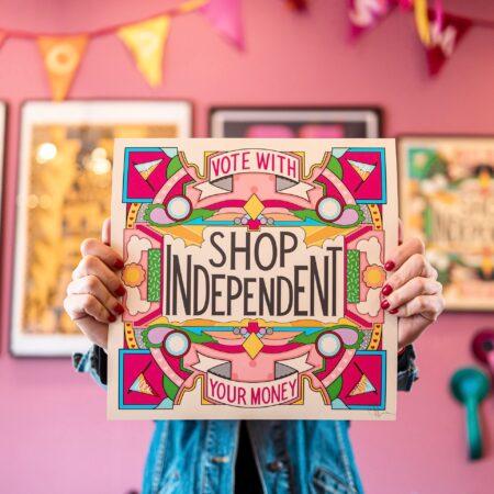 Shop Independent print
