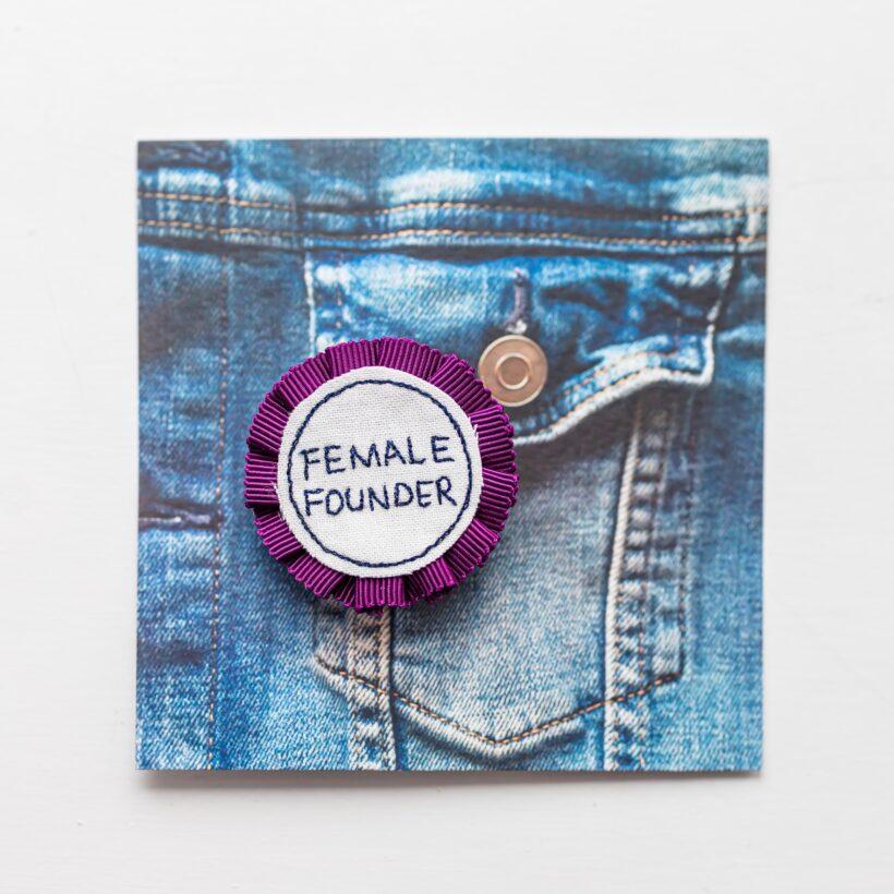 Female Founder Rosette Badge