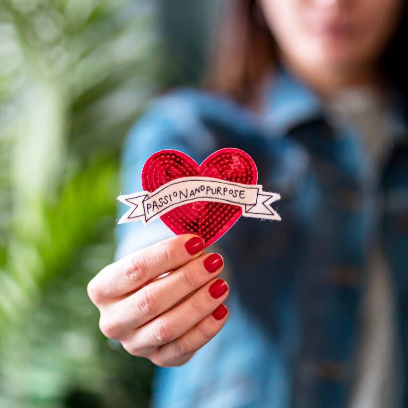 Passion & Purpose Heart Patch by Emma Giacalone