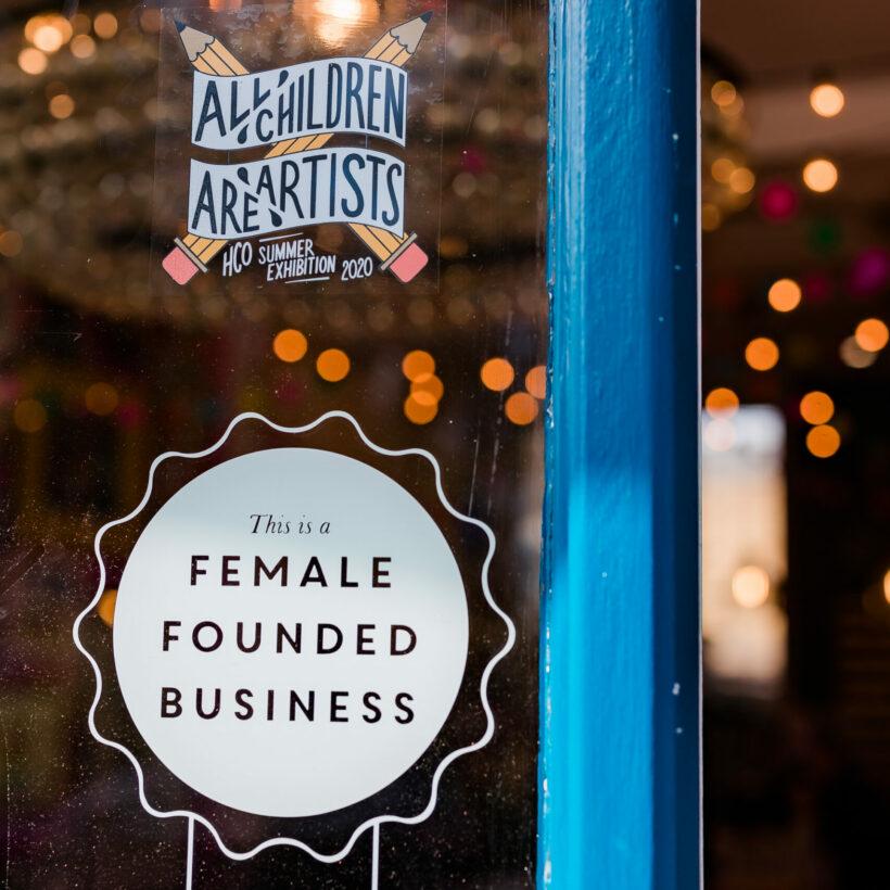 Female Founded Business Window Sticker