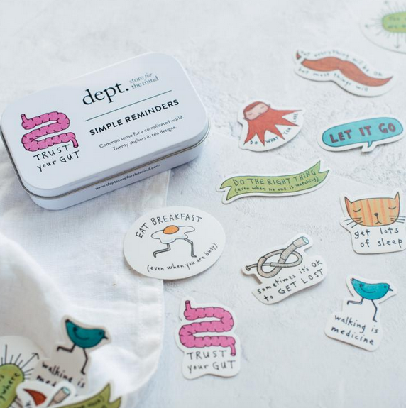 Simple pleasures - set of 20 stickers from dept.store for the mind