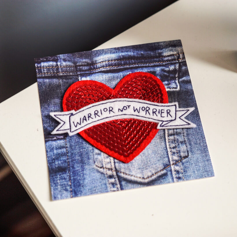 Warrior not Worrier Embroidered Patch