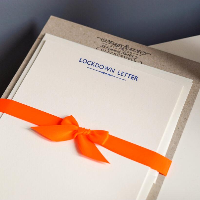 Lockdown Letter Set by Marby & Elm