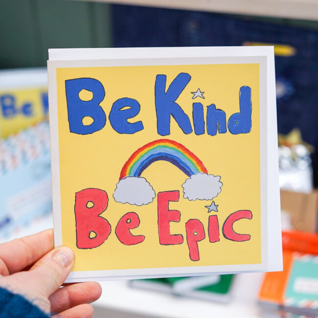 be kind be epic  card  holly  co