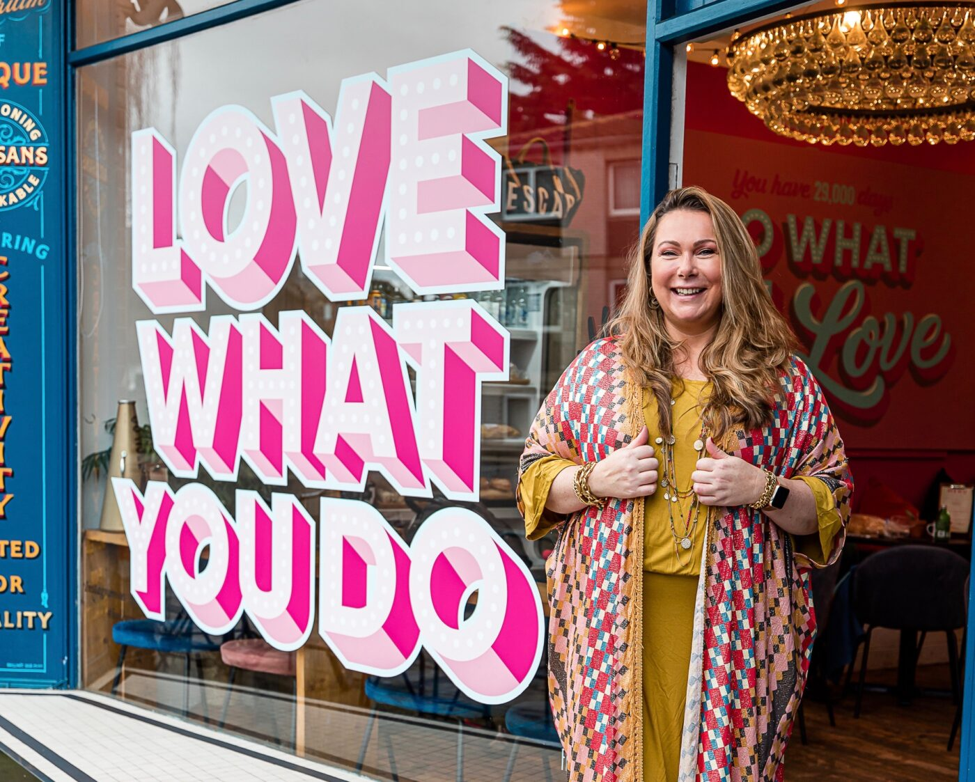 Holly Tucker MBE Love What You Do window
