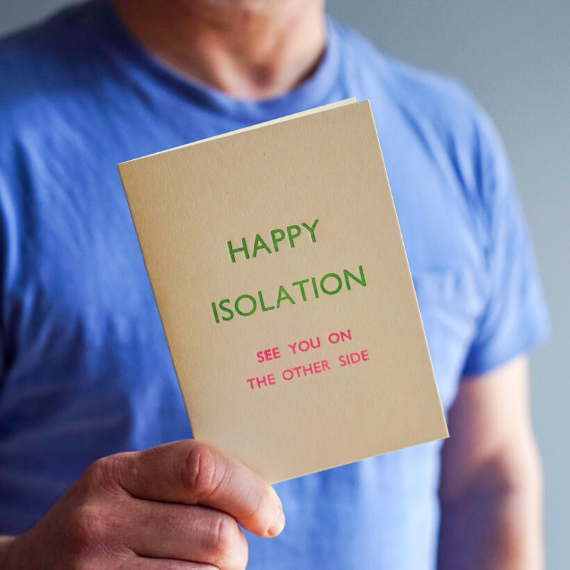 Happy Isolation - See you on the other Side. Card by Marby & Elm