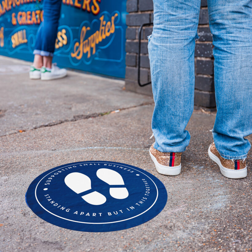 Social Distance Floor Stickers for Small Businesses