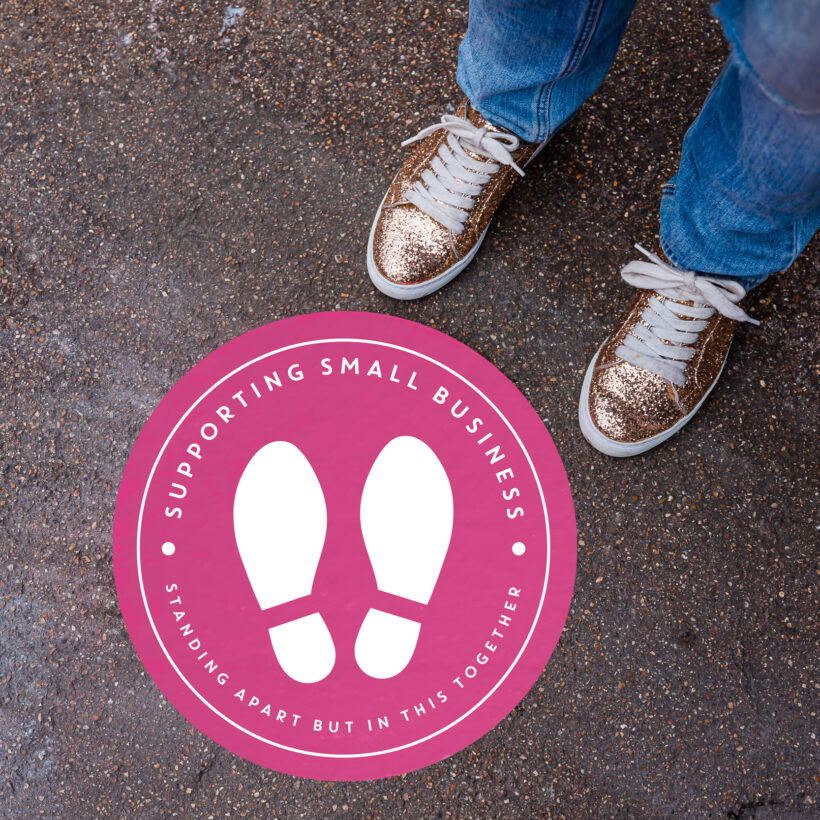 Social Distance Floor Sticker for Small Buinesses