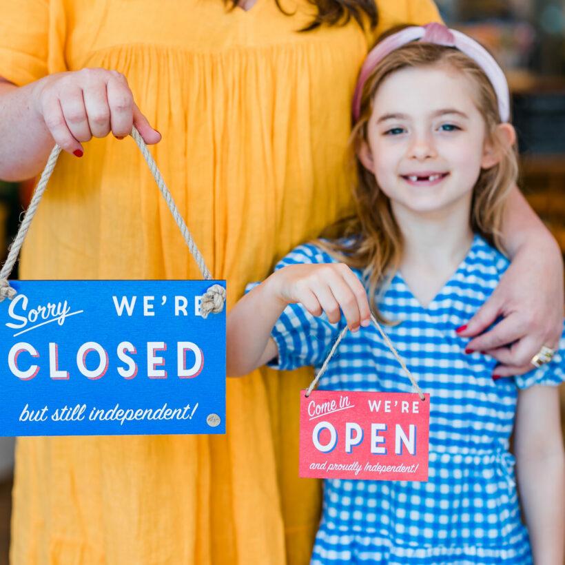 Mini Open Closed Shop Sign