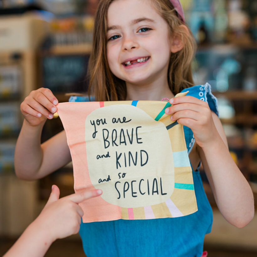 You are brave and kind and so special Handkerchief by Nicola Rowlands
