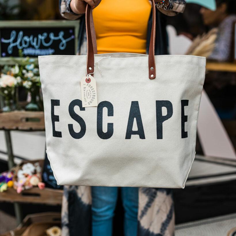 Escape Canvas Tote Bag