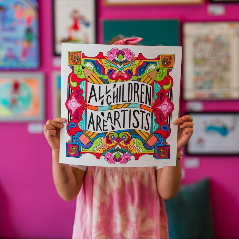 all children are artists print by Rebecca Strickson