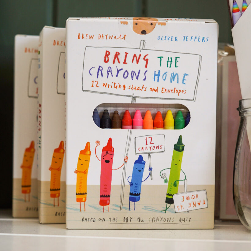 Bring the Crayons Home Letter Writing Set