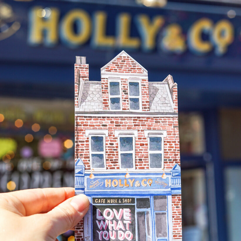 Holly & Co Work / Shop Postcard