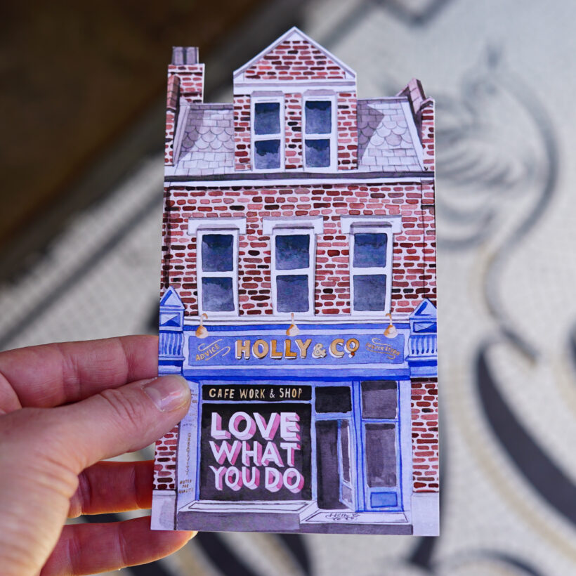 Holly & Co Work/Shop postcard