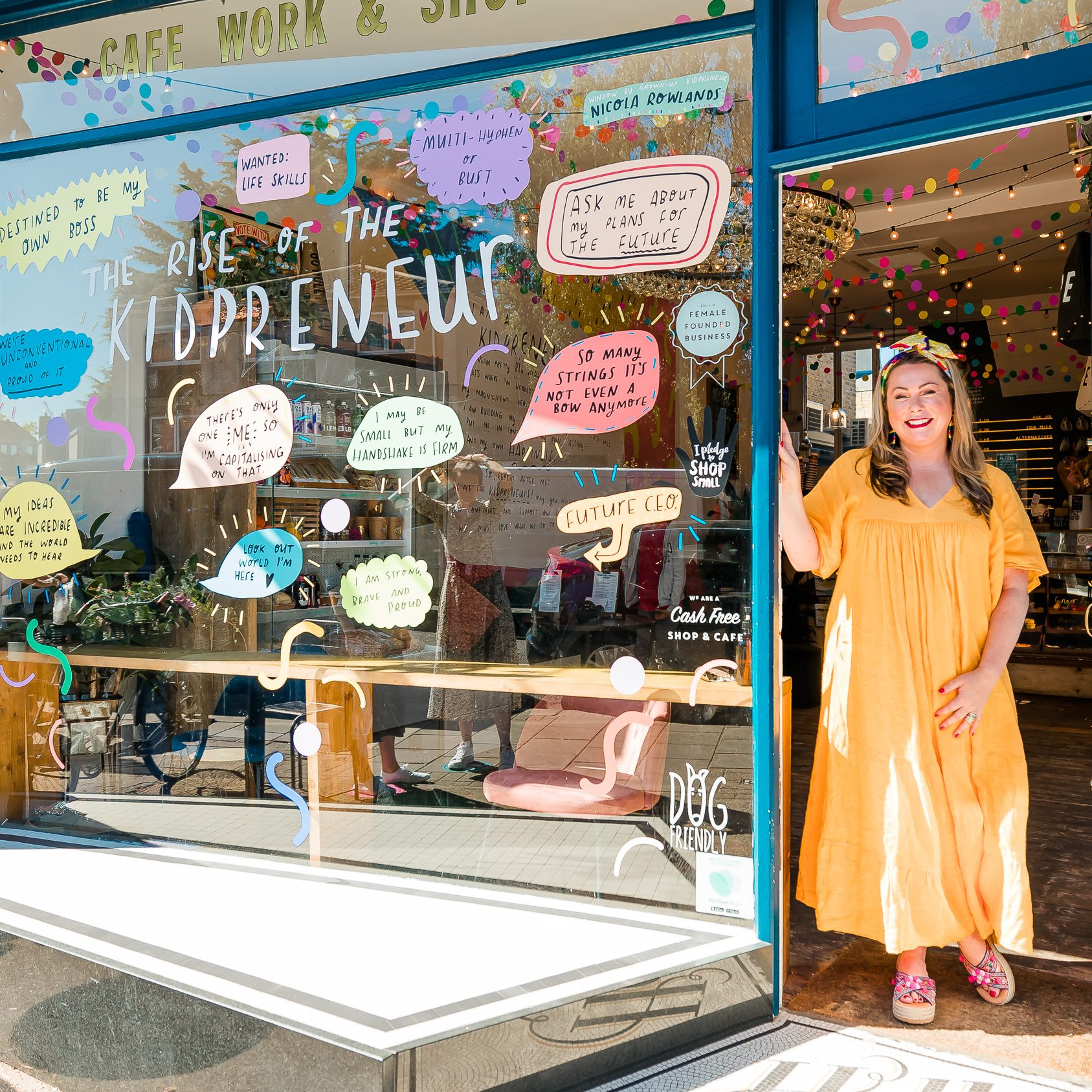 Holly Tucker outside the workshop for kidpreneur month