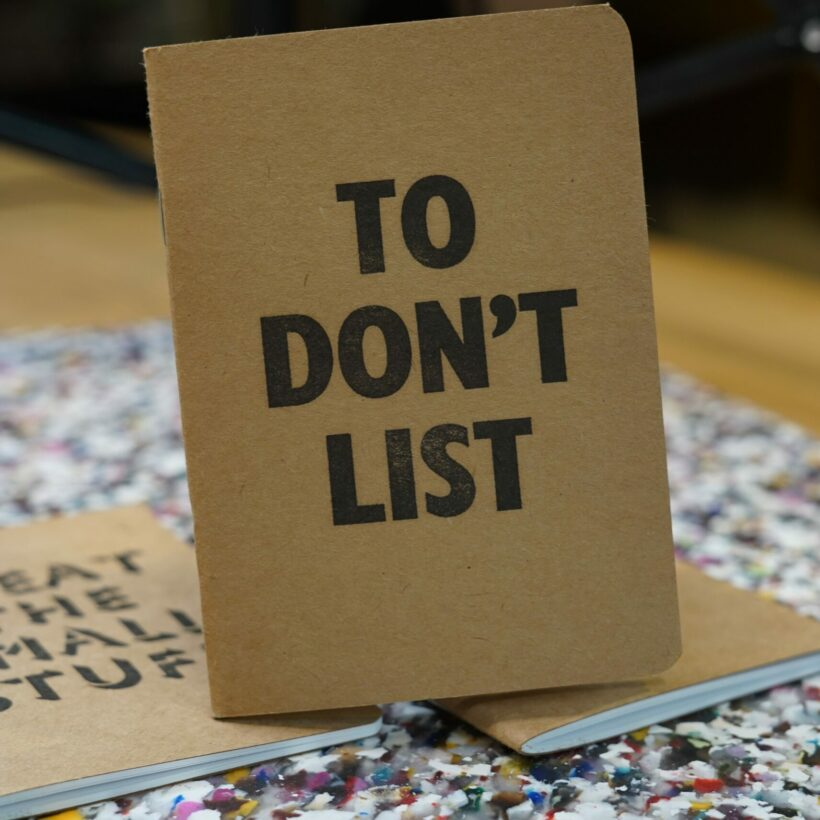 A5 Notebook To Don't List
