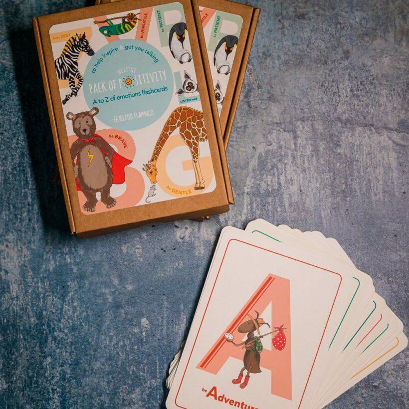 Positivity Alphabet Flash Cards