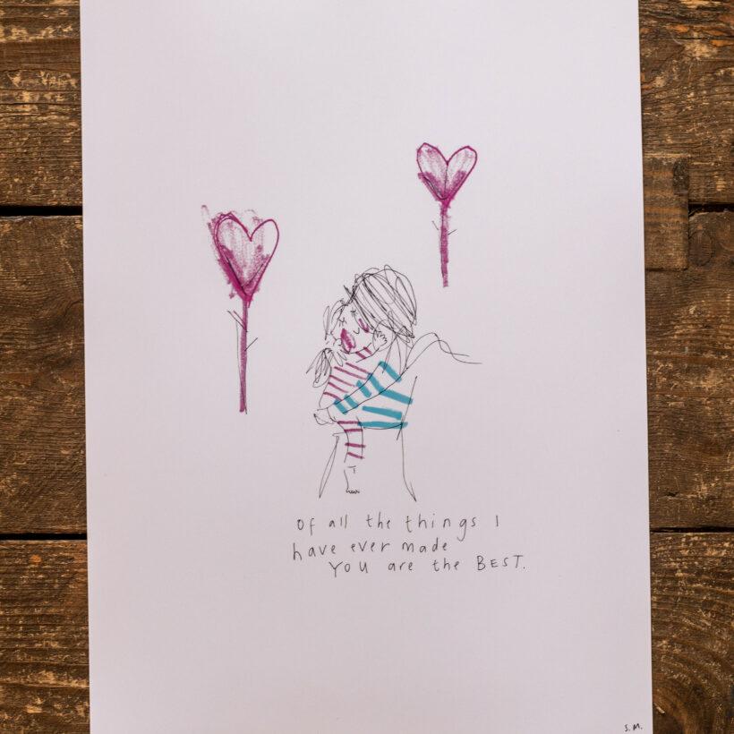 Sketchy Muma Print