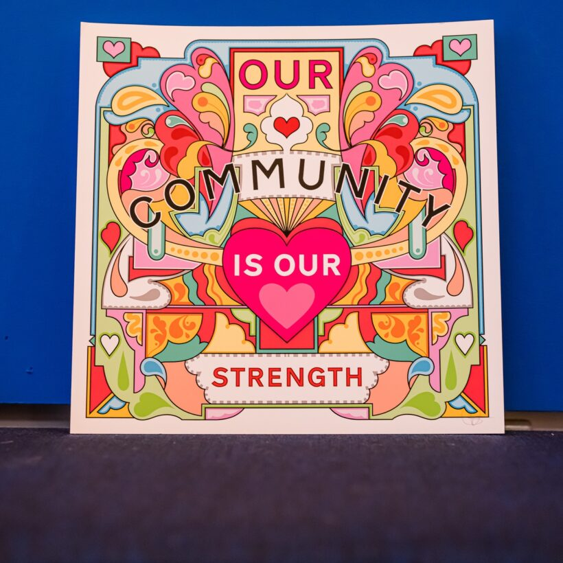 Rebecca Strickson Print Our Community is our Strength