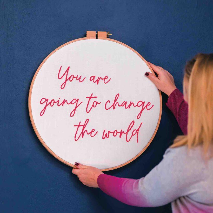 Change the World Hoop