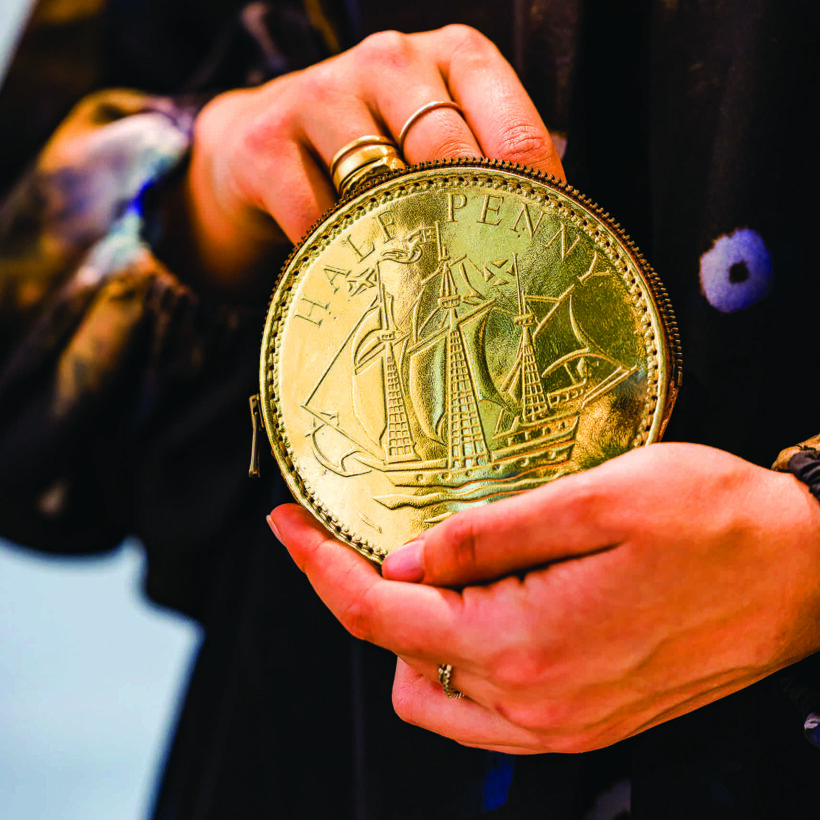 Half Penny Gold Coin Purse