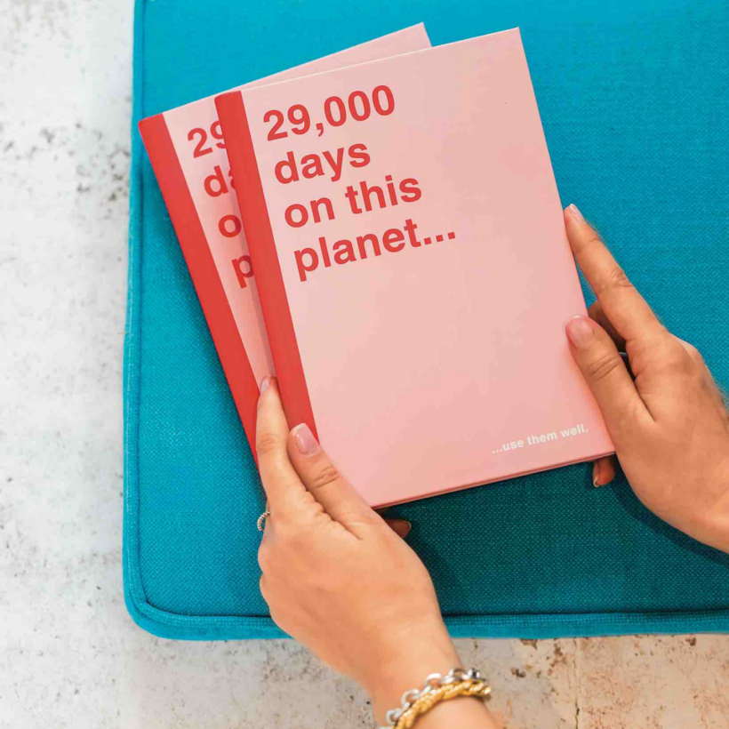29,000 days left on this planet notebook