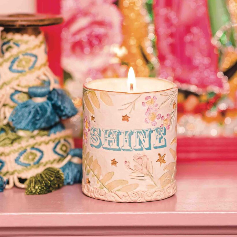 Handcrafted 'SHINE' Candle by Denim & Bone