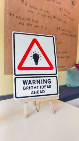 Bright Ideas Sign - Exclusive Product - Mims Family in Work Shop - DSC06298