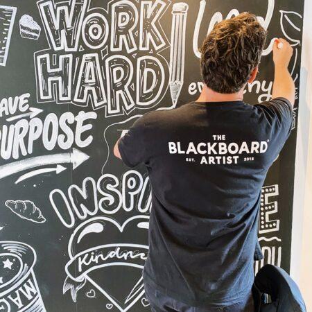 Blackboard artist